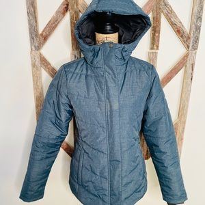 Columbia newer thick puffy parka teal/gray